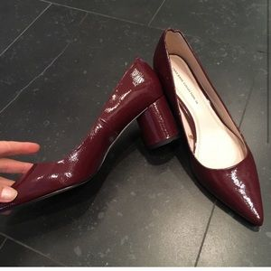 Zara Dark Red Maroon Patent Pumps Size 7.5